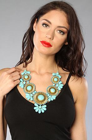 Turquoise Statement Necklace -Bib Bubble Necklace
